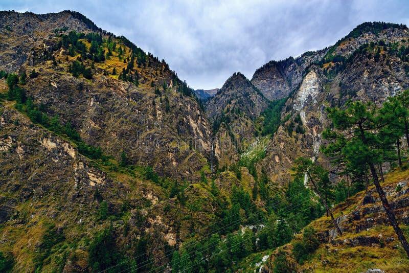 Valle de Parvati, la India del norte fotografía de archivo