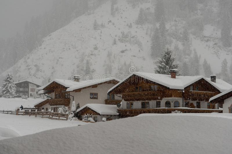 Valle de Stubai en Austria fotos de archivo libres de regalías