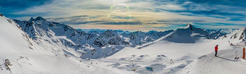 Valle de Stubai en Austria foto de archivo