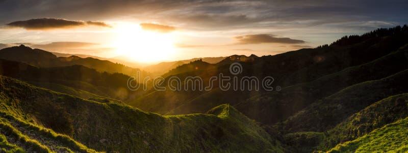 Valle de Sunflared fotografía de archivo libre de regalías