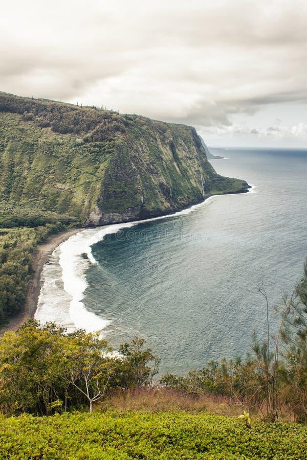 Valle de Waipio en Hawaii fotografía de archivo libre de regalías