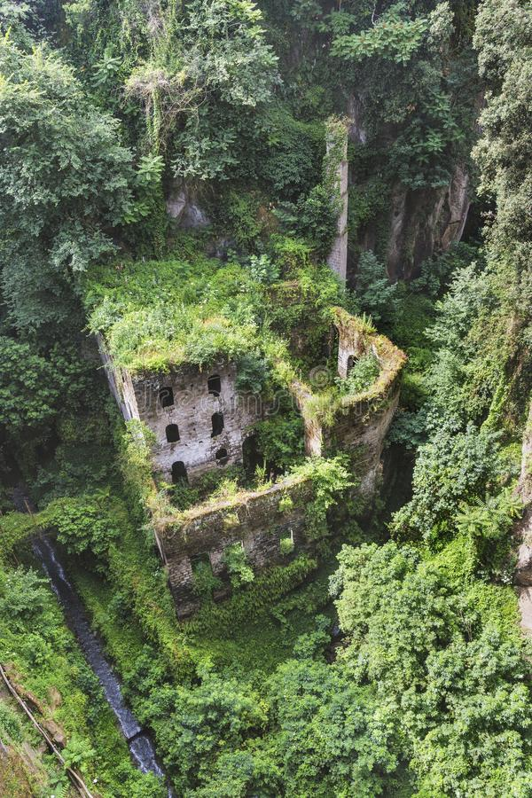Valle dei Mulini lub dolina młyny, Sorrento, Amalfi wybrzeże Ja zdjęcie royalty free