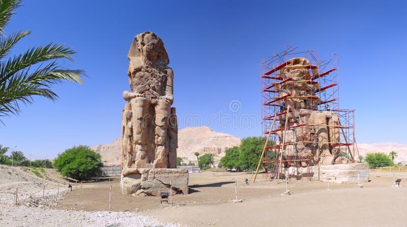 Valle dei re. Statua dei Pharaohs. Luxor immagini stock