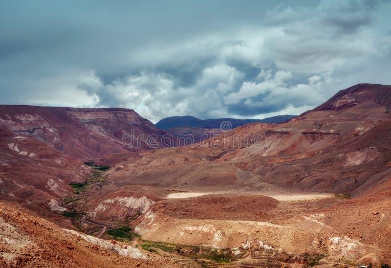 Valle del Arcoiris Чили стоковое фото