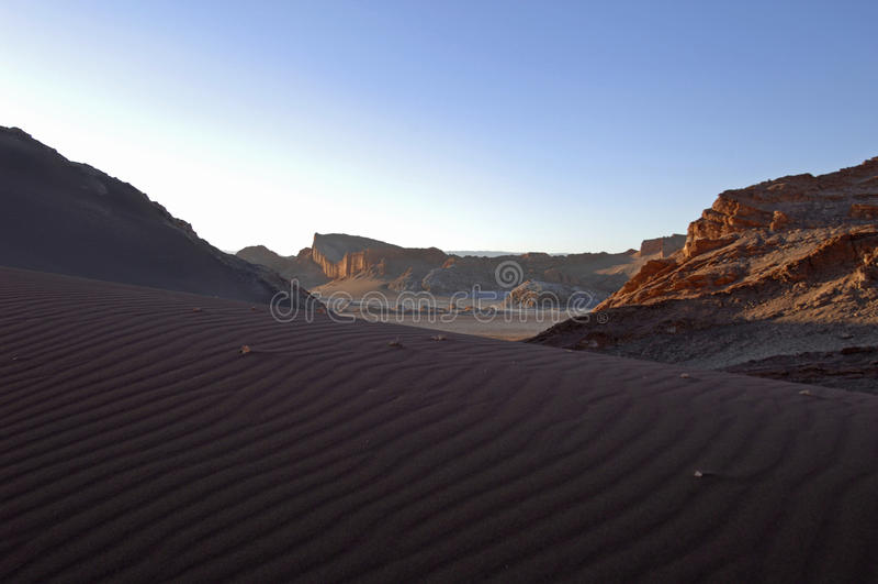 Valle del desierto de atacama de la luna fotografía de archivo