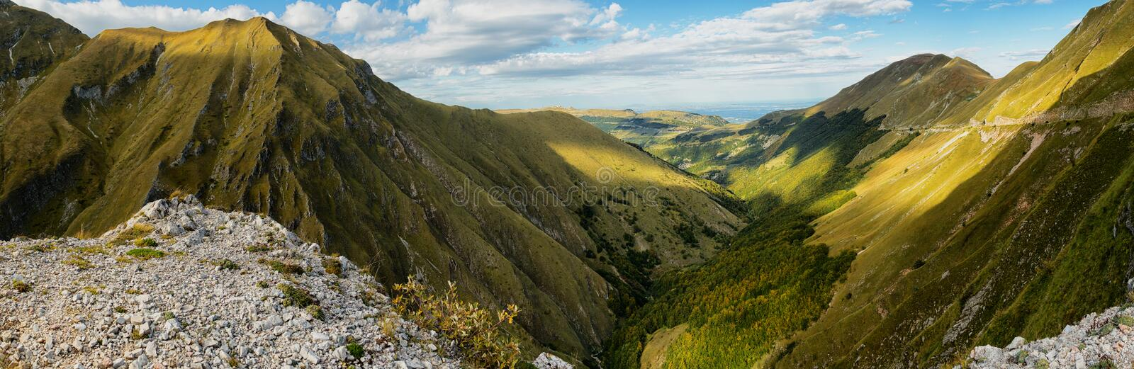Valle del Fargno royalty free stock images