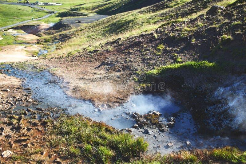 Valle del fiume di Hveragerdi Islanda fotografia stock libera da diritti