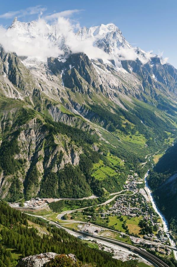 Valle del furetto, Courmayeur immagini stock libere da diritti