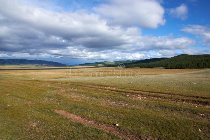 Valle del lang de la altura en Mongolia del norte fotos de archivo