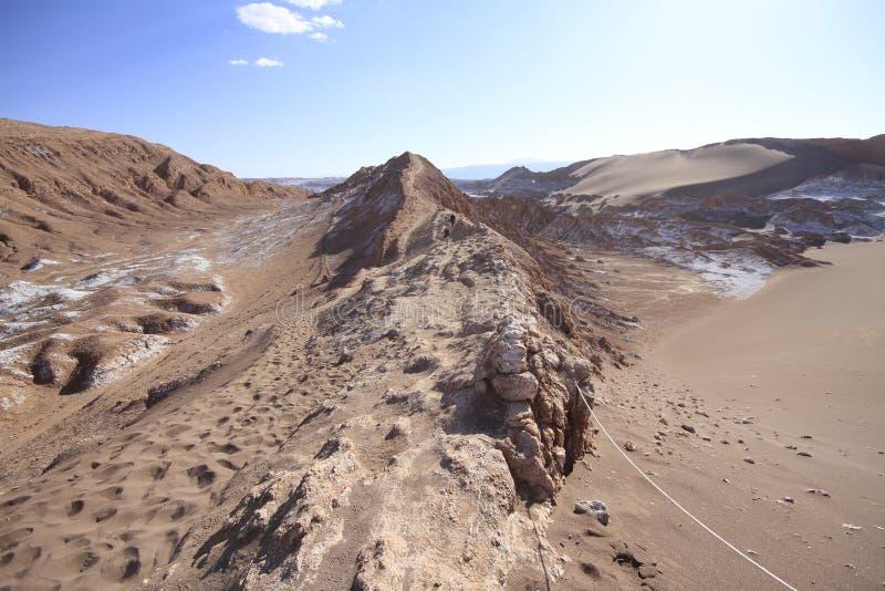 Download Valle Del Luna - Dolina Księżyc W Atacama, Chile Obraz Stock - Obraz złożonej z valle, chmury: 57671219
