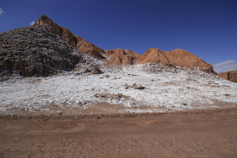 Valle del luna - valley of the moon, in atacama, chile stock images