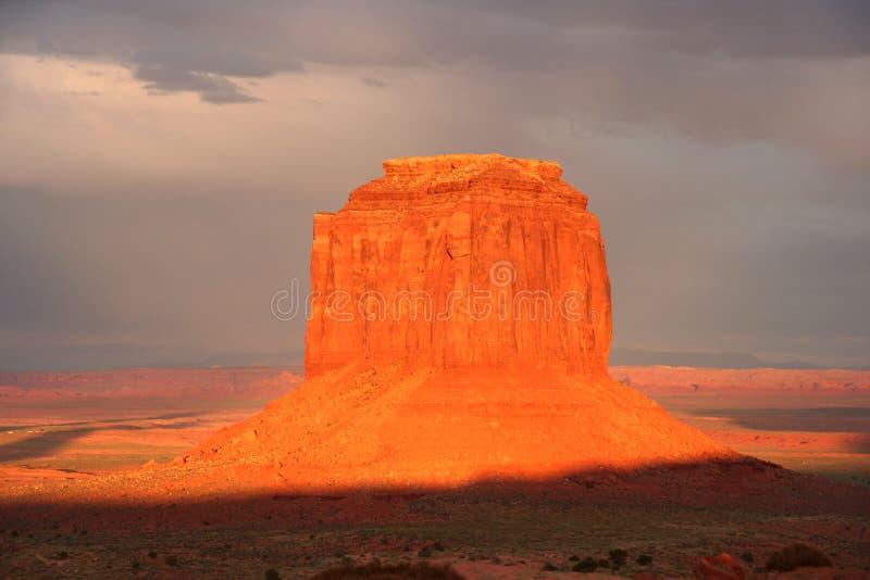 Valle del monumento al tramonto 2 fotografia stock