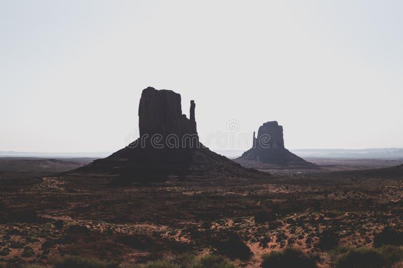 Valle del monumento di mattina Le rocce maestose dell'Utah fotografia stock