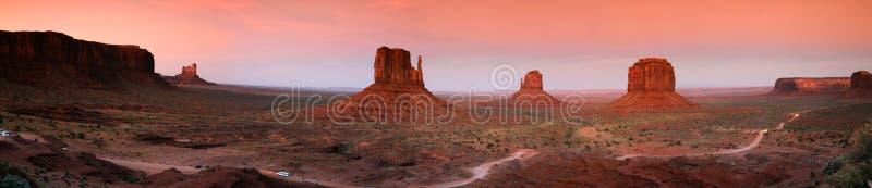 Valle del monumento di panorama fotografia stock