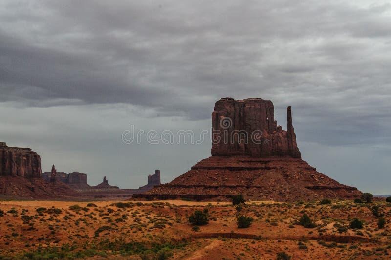 Valle del monumento en un día nublado fotos de archivo libres de regalías
