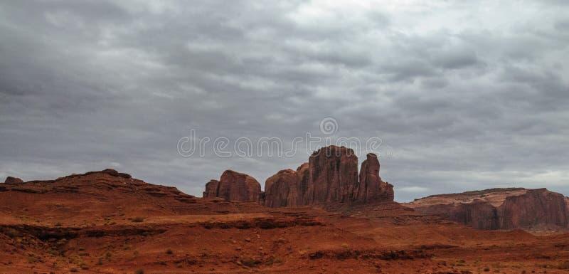 Valle del monumento en un día nublado fotografía de archivo libre de regalías