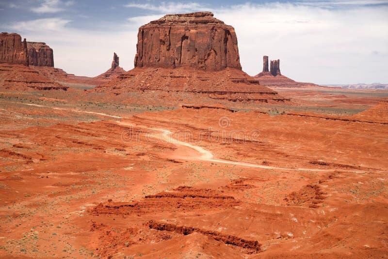 Valle del monumento, parque tribal de Navajo, Arizona foto de archivo