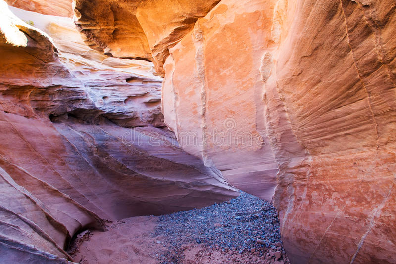 Valle del parco di stato del fuoco (Nevada) Canyon insoliti fotografia stock libera da diritti