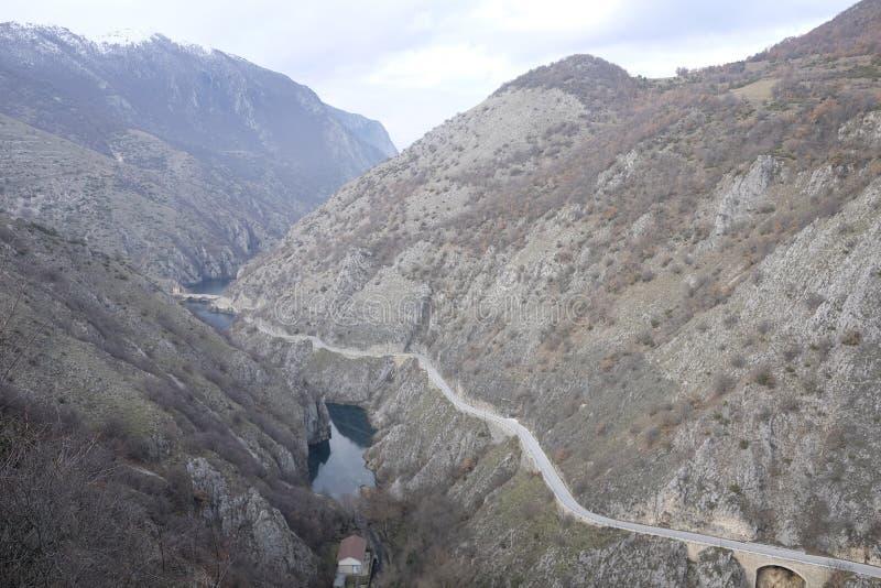 Valle del sagittario nell'Abruzzo immagine stock