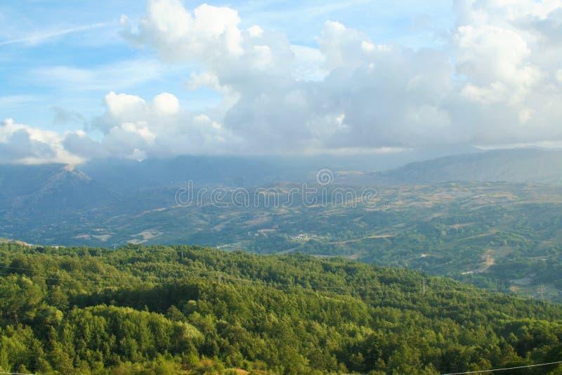 Valle del Sinni, εθνικό πάρκο Pollino στοκ φωτογραφίες