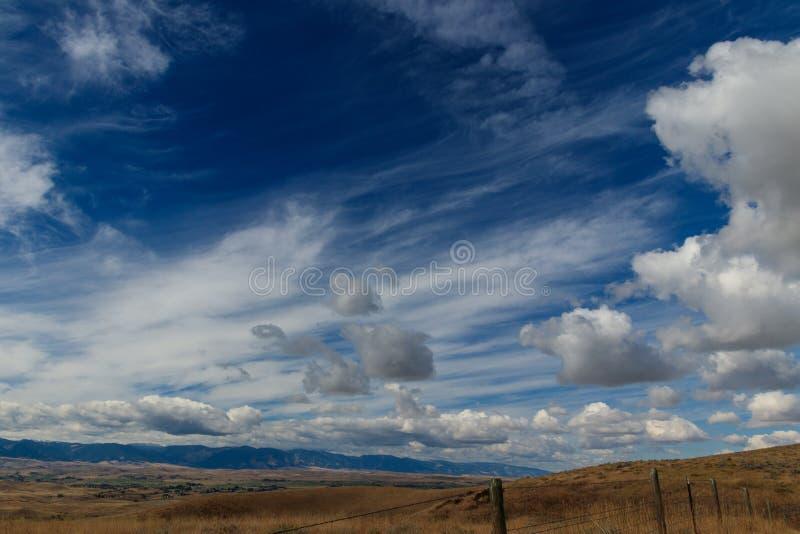 Valle dell'insenatura dell'oca, traccia di Bozeman, Wyoming immagine stock