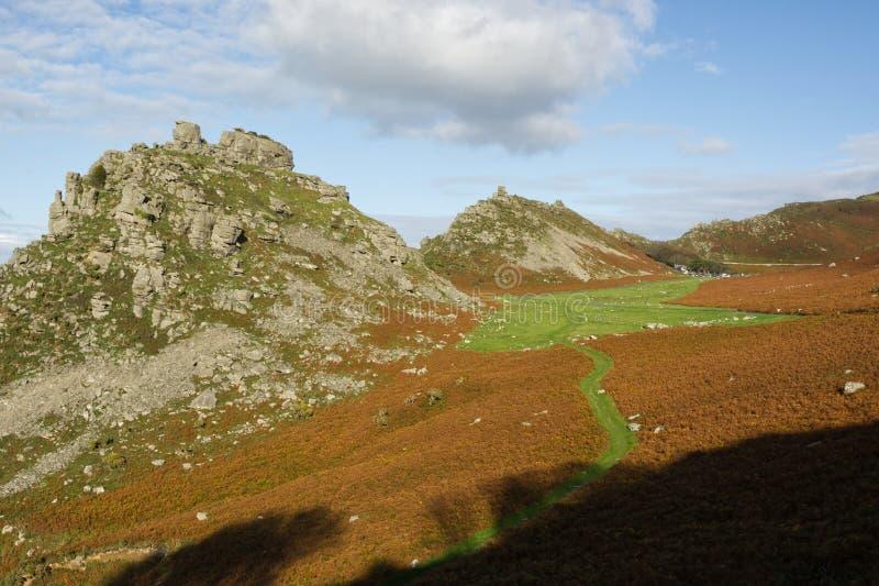 Valle delle Rocks, Lynton, Devon, Inghilterra immagine stock libera da diritti