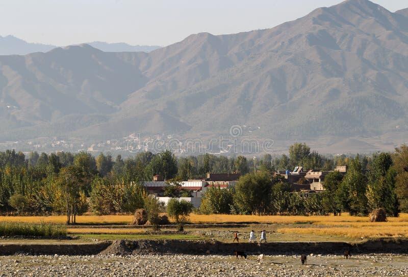 Valle dello schiaffo, Pakistan del Nord immagine stock libera da diritti