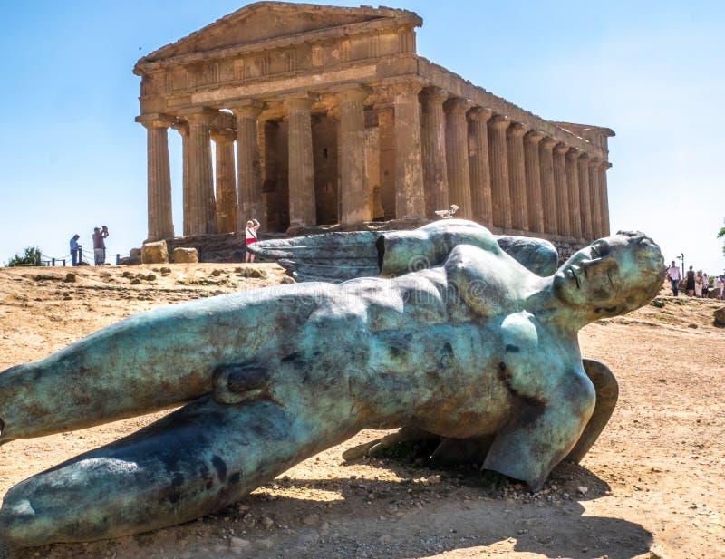 Valle des-tempel en Agrigente arkivbilder