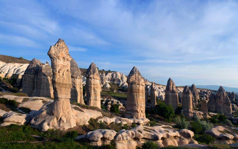 Valle di amore in Cappadocia, Turchia fotografie stock libere da diritti