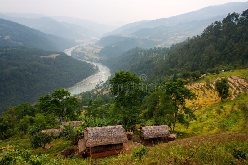Valle di Arun - Nepal immagine stock libera da diritti