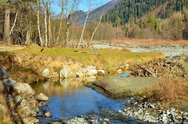 Valle di autunno fotografie stock libere da diritti