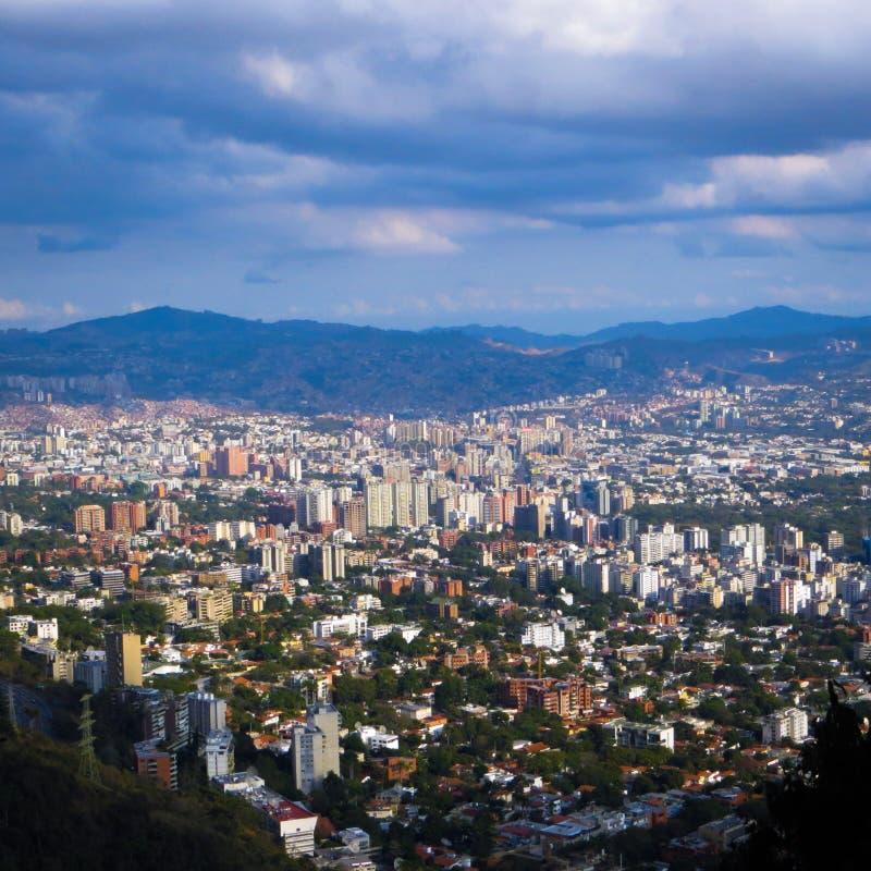 Valle di Caracas veduta da Avila immagini stock