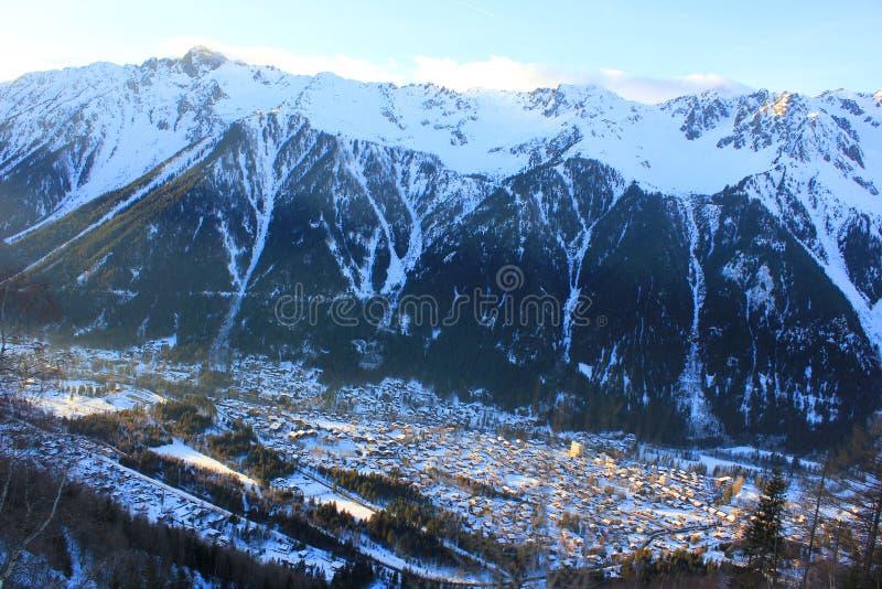 Valle di Chamonix-Mont-Blanc immagine stock