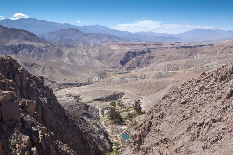 Valle di Copaquilla, Cile immagini stock libere da diritti
