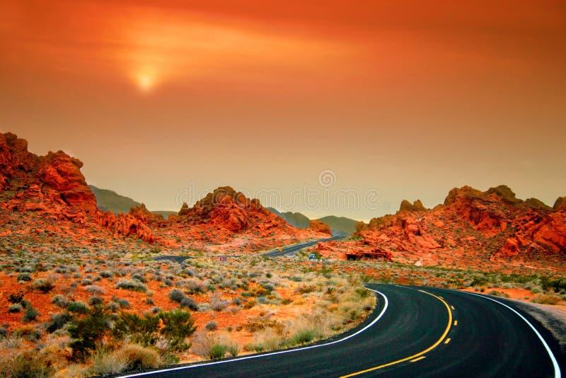 Valle di fuoco, Nevada fotografie stock libere da diritti