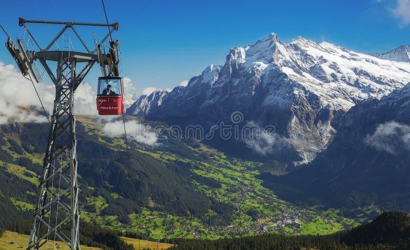 Valle di Grindelwald fotografia stock libera da diritti
