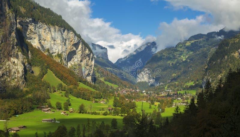 Valle di Lauterbrunnen immagini stock