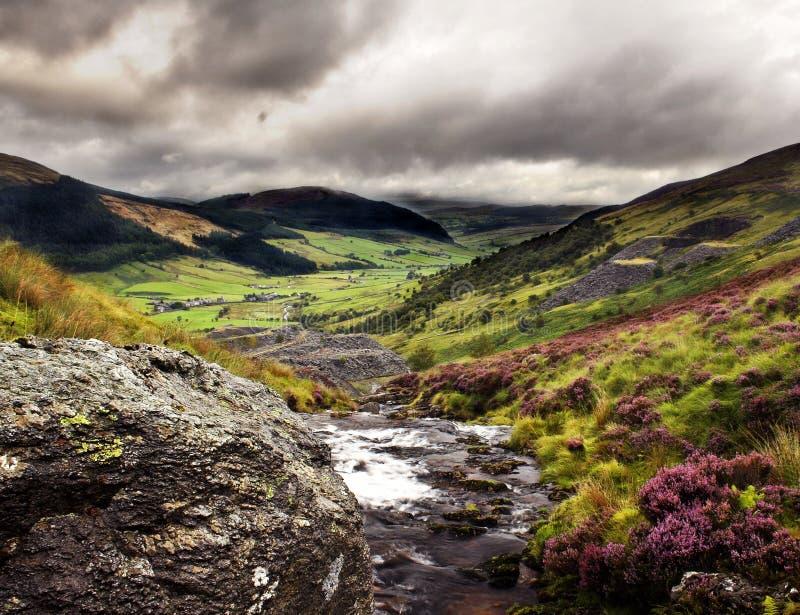 Valle di Lingua gallese immagine stock