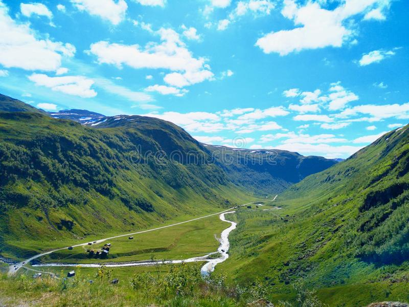 Valle di Myrdalen immagine stock libera da diritti