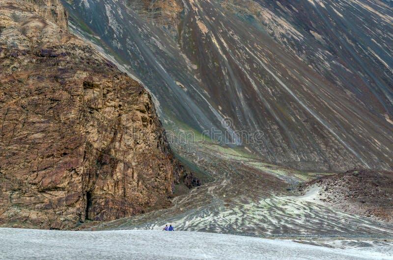 Valle di Nubra, il regno della natura non scoperto fotografia stock libera da diritti