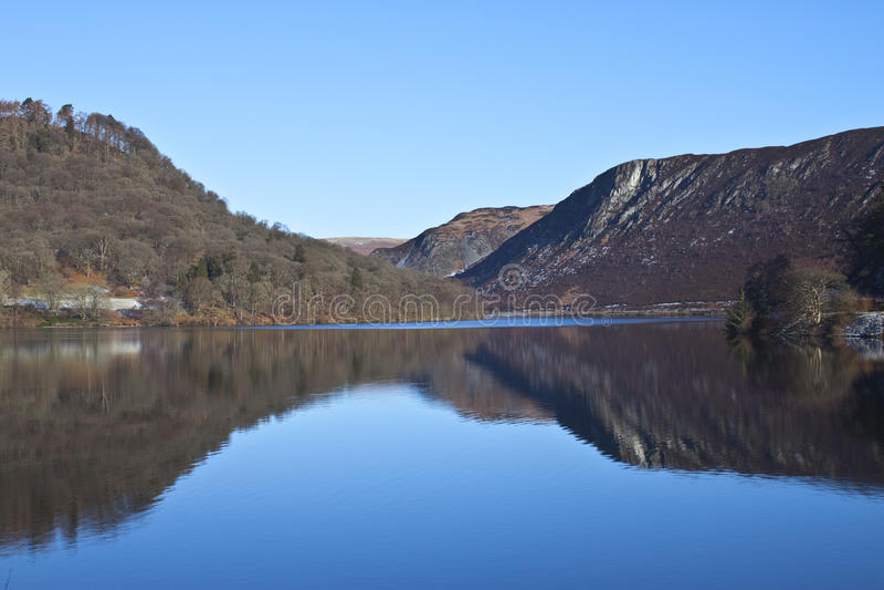 Valle di slancio, Rhayader, Powys fotografie stock libere da diritti