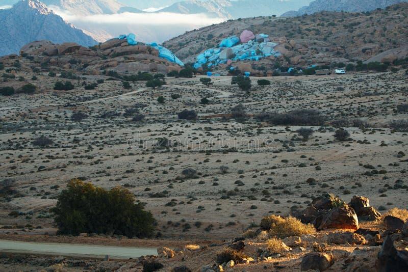 Valle di Tafraout, Marocco fotografia stock