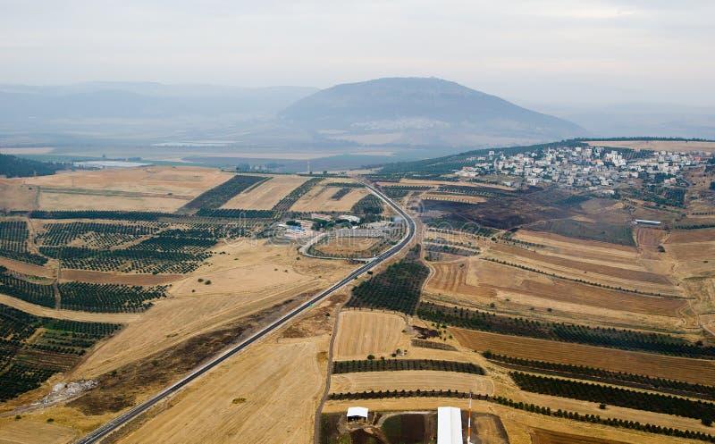 Valle di Yezreel e supporto Tabor fotografie stock