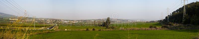 Valle di Yizrael di vista di Pnoramic immagine stock