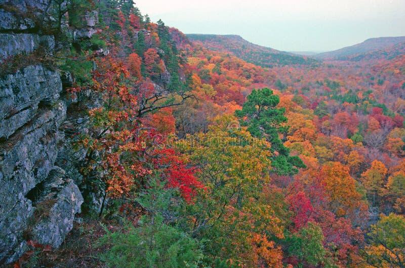 Valle en color del otoño imagen de archivo libre de regalías