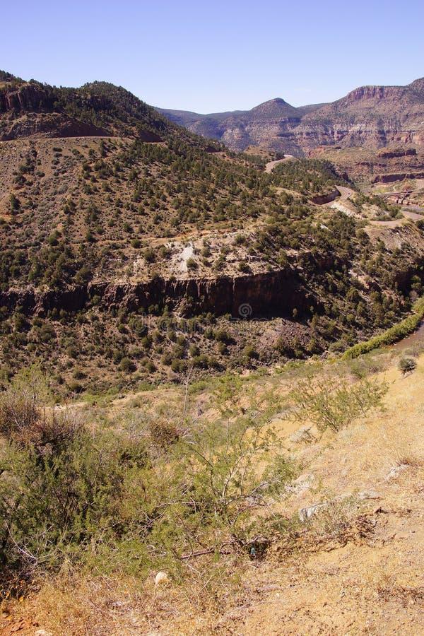 Valle escarpado del barranco del río Salt imagenes de archivo