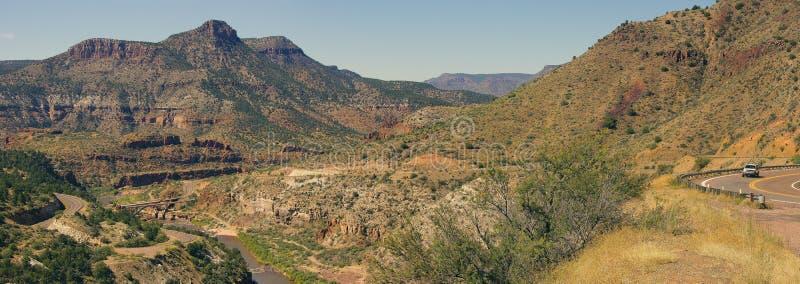 Valle escarpado del barranco del río Salt fotos de archivo libres de regalías