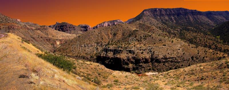 Valle escarpado del barranco del río Salt imagen de archivo