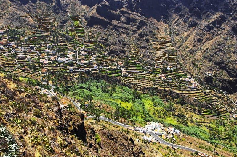 Valle Gran Rey, остров Gomera Ла стоковые фотографии rf