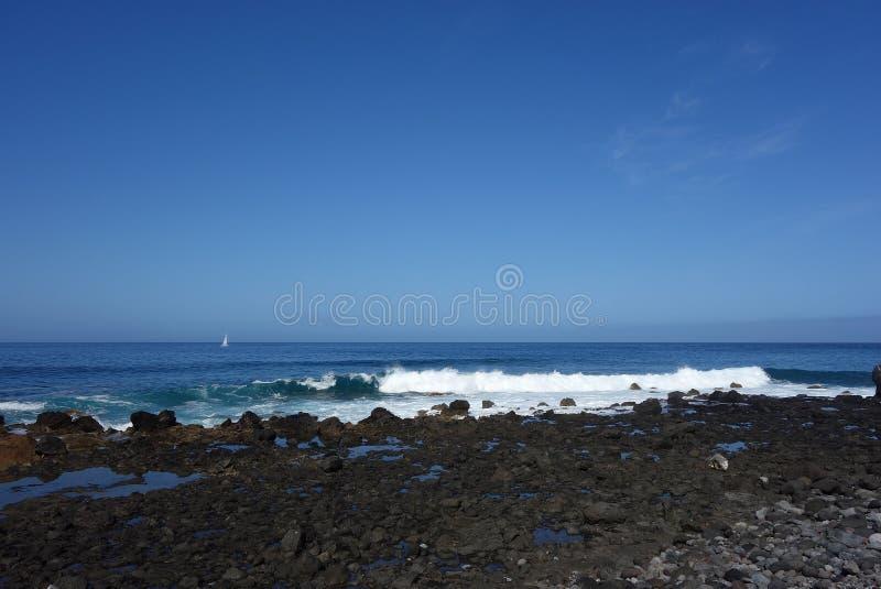 Valle Gran Rey coast. Coast of Valle Gran Rey in La Gomera Canary island royalty free stock images